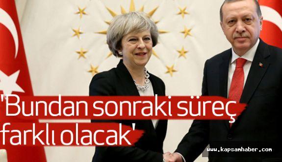 Erdoğan ile  May, Ortak Basın Açıklaması gerçekleştirdi