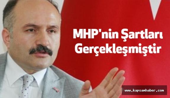 Erhan Usta: MHP'nin Şartları Gerçekleşmiştir