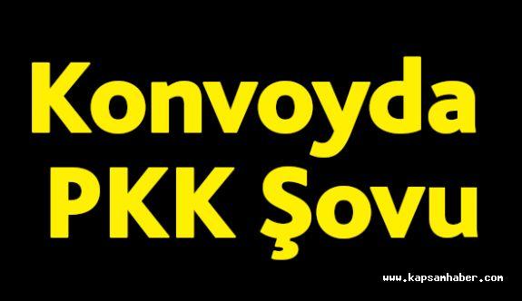 Konvoyda PKK Şovu