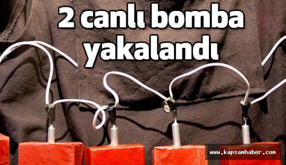 PKK'lı 2 Canlı Bomba Kıskıvrak Yakalandı