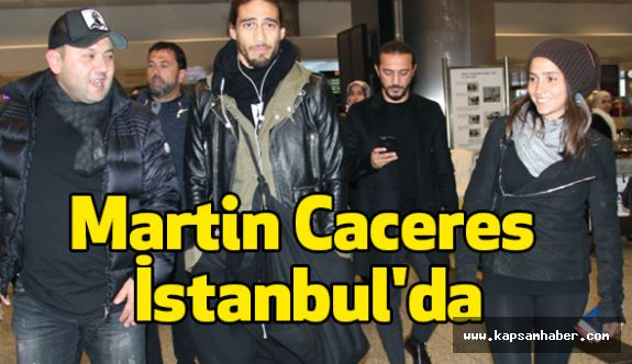 Trabzonspor'un yeni transferi Martin Caceres İstanbul'da