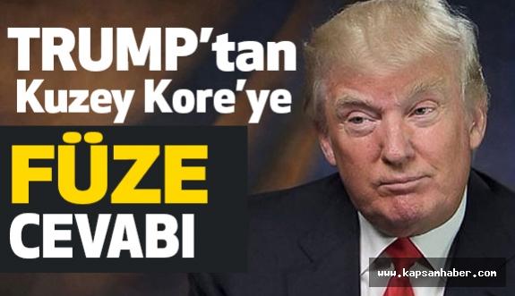 Trump'tan Kuzey Kore liderine füze yanıtı