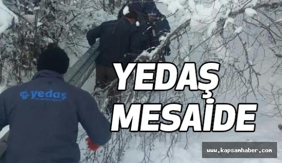 YEDAŞ'ın Yoğun Kar Mesaisi