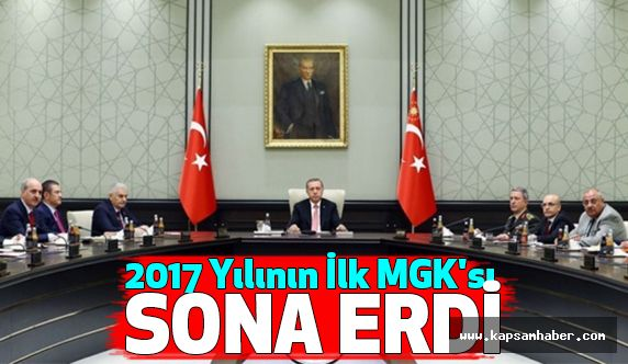 2017 yılının ilk MGK'sı  sona erdi