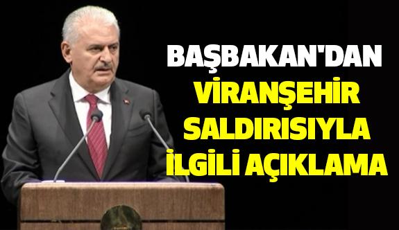 Başbakan'dan Viranşehir Saldırısıyla ilgili Açıklama