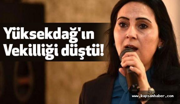 HDP'li Yüksekdağ'ın Vekilliği düştü!
