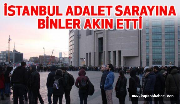 """İstanbul Adliyesi önünde """"İcra Katipliği"""" Kuyruğu"""