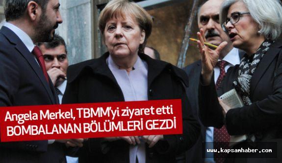 Merkel, TBMM'yi ziyaret etti