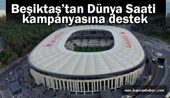Beşiktaş Dünya Saati kampanyasına destek verdi