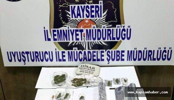 Kayseri Emniyetinden uyuşturucu operasyonu