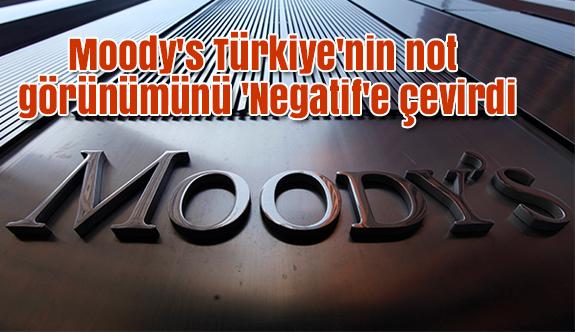 Türkiye'nin not görünümünü 'Negatif'