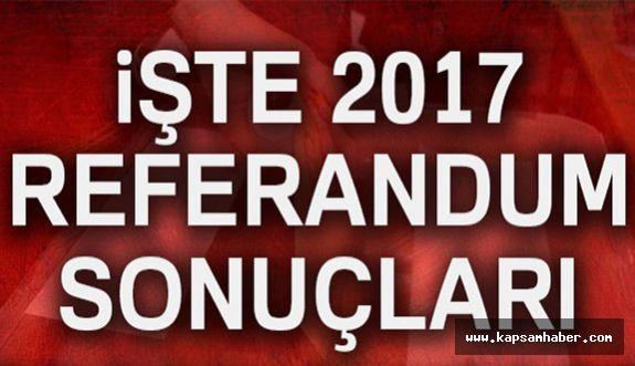 2017 referandum sonuçları Türkiye geneli...