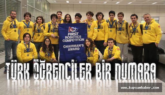 ABD'de robot yarışmasına Türk öğrenciler bir numara