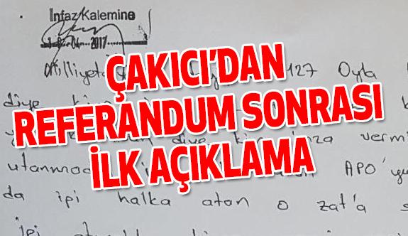 Alaattin Çakıcı'dan Referandum Sonrası İlk Açıklama!