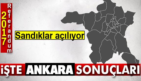 Ankara referandum sonuçları 2017!