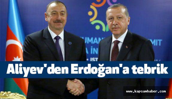 Cumhurbaşkanı Aliyev'den Erdoğan'a tebrik
