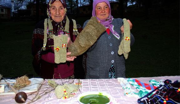 Giresun'da Isırgan otundan organik giyim