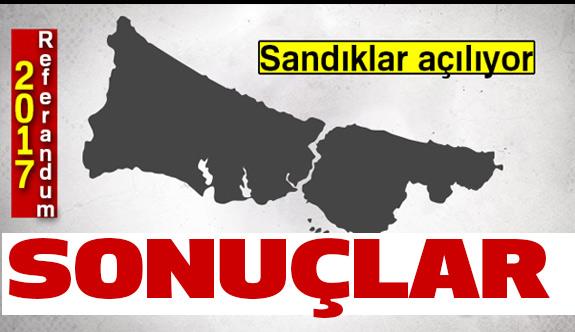 İstanbul referandum sonuçları Son dakika...