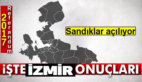 İzmir referandum sonuçları 2017!