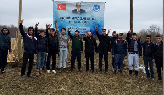 Samsun Ladik Ülkü Ocakları'ndan Alparslan Türkeş Hatıra Ormanı