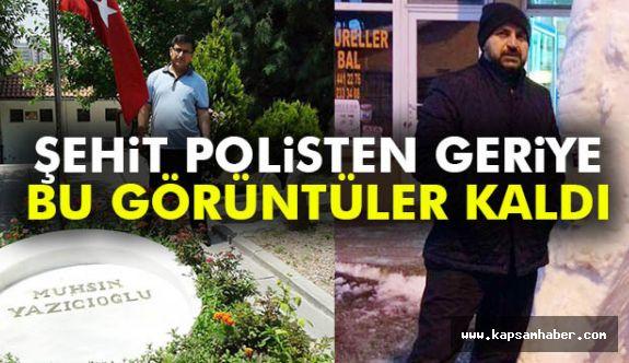 Şehit polis Yazıcıoğlu'nun mezarı başında