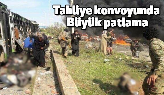 Suriye'de Tahliye Konvoyunda Patlama!