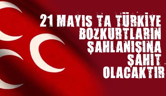 """""""21 Mayıs'ta Türkiye Bozkurtların Şahlanışına Şahit Olacaktır"""""""