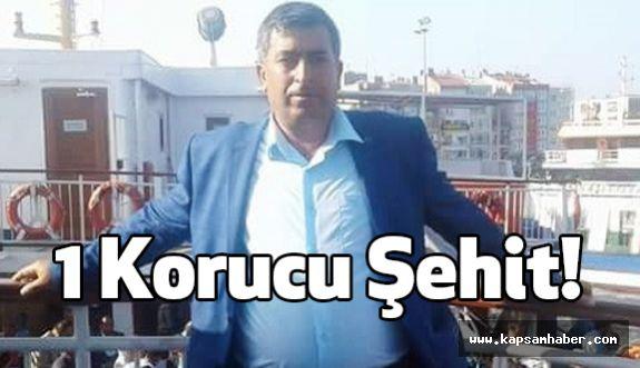 Bitlis'te çatışmada 1korucu şehit oldu