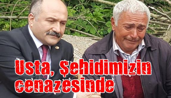 MHP'li Usta, Özel Harekât Polisi Mesut Yılmaz'ın cenaze törenine katıldı
