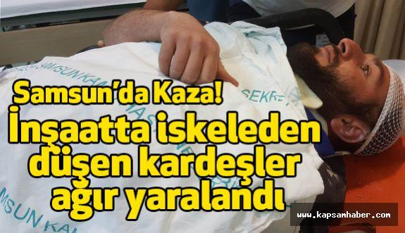 Samsun'da  iskeleden düşen kardeşler ağır yaralandı