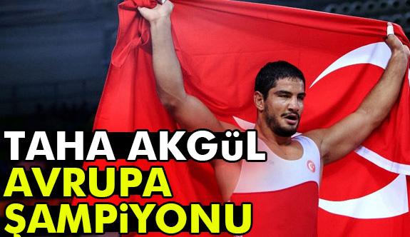 Taha Akgül, Avrupa Güreş Şampiyonası serbest stil 125 kiloda altın madalya kazandı.
