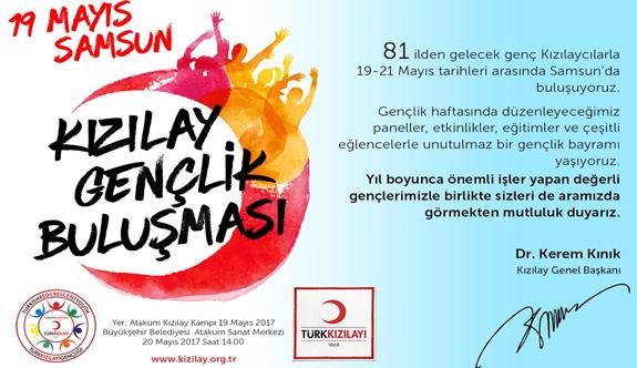 Türk Kızılayı 19 Mayıs Atatürk'ü Anma, Gençlik ve Spor Bayramını kutluyor