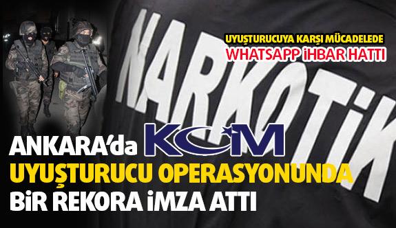 Ankara'da Uyuşturucuya Rekor operasyon...