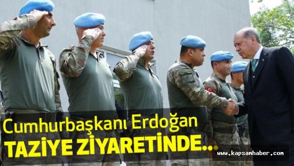 Erdoğan Taziye Ziyaretinde...
