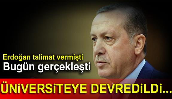 Erdoğan'ın talimatı üzerine Kenan Evren Kışlası devredildi