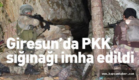 PKK'nın Giresun'daki Sığınağı İmha Edildi
