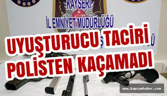 Kayseri'de Uyuşturucu Taciri Polisten Kaçamadı