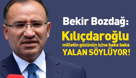 """Bakan Bozdağ """"Kılıçdaroğlu Yalan Söylüyor"""""""