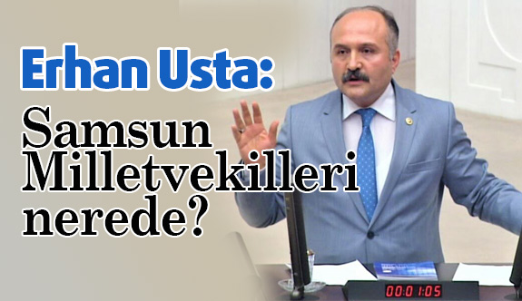 MHP'li Erhan Usta, Samsun Milletvekilleri nerede?