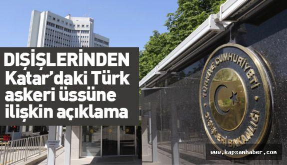 Türkiye'den Katar'daki Türk askeri üssüne ilişkin açıklama