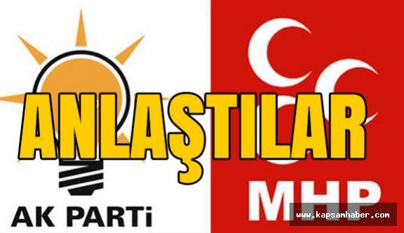 AK Parti ve MHP Anlaşmaya Vardı