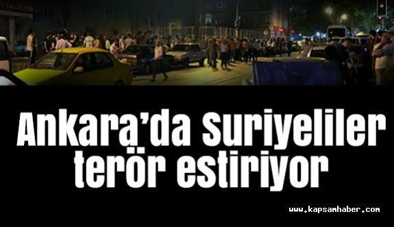 Başkent'te Suriyeliler terör estiriyor...