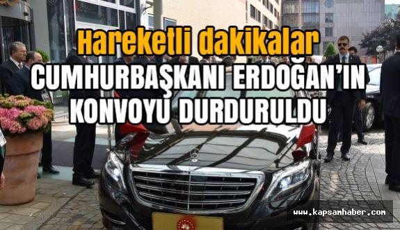 Erdoğan'ın Konvoyu Hamburg'da Durduruldu
