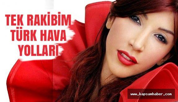 """Hande Yener'den Büyük İddia: """"Tek rakibim THY"""""""