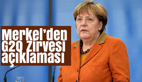 Merkel'den G20 Zirvesi Açıklaması