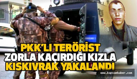 PKK'nın Dağ Kadrosundan Bir Terörist Zorla Kaçırdığı Kızla Yakalandı