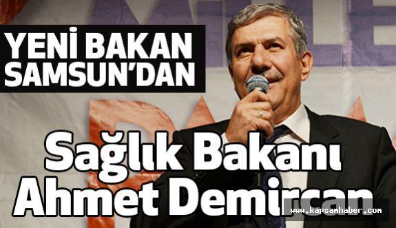 Sağlık Bakan Samsun Milletvekili Ahmet Demircan Oldu