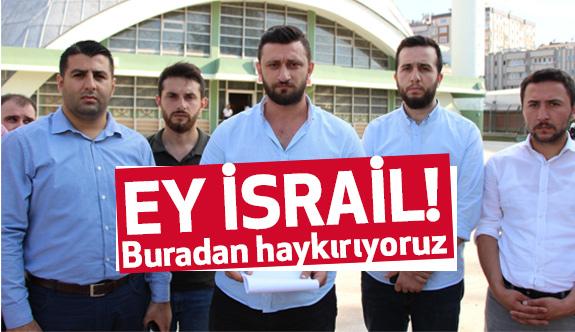 Samsun AK Parti Gençlik Kolları İsrail'i protesto etti