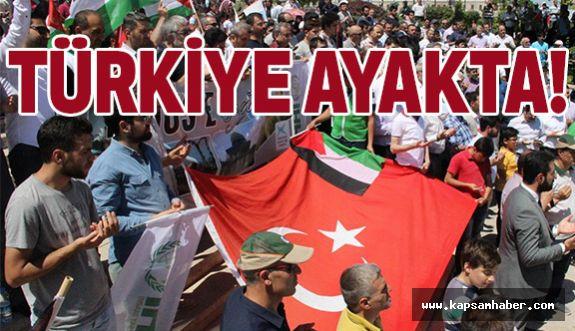 Türkiye Ayağa Kalktı! İsrail Her Yerde Protesto Edildi