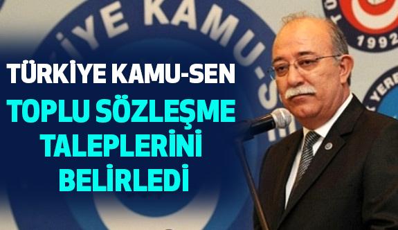 Türkiye Kamu-Sen Toplu Sözleşme Talepleri